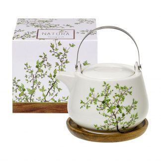 Natura Porcelain Tea Pot with stainless infuser - 26 oz/750 ml