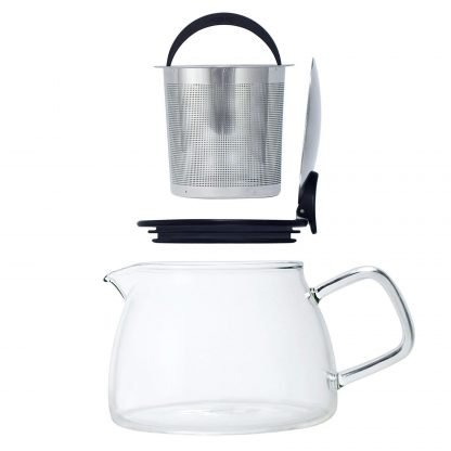 Bell Glass Teapot with Basket Infuser ~ 24 oz