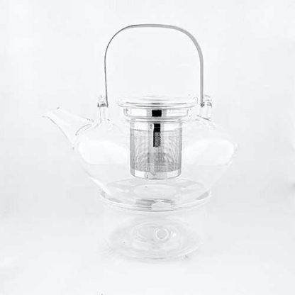 Abloom Glass Teapot & Warmer Set